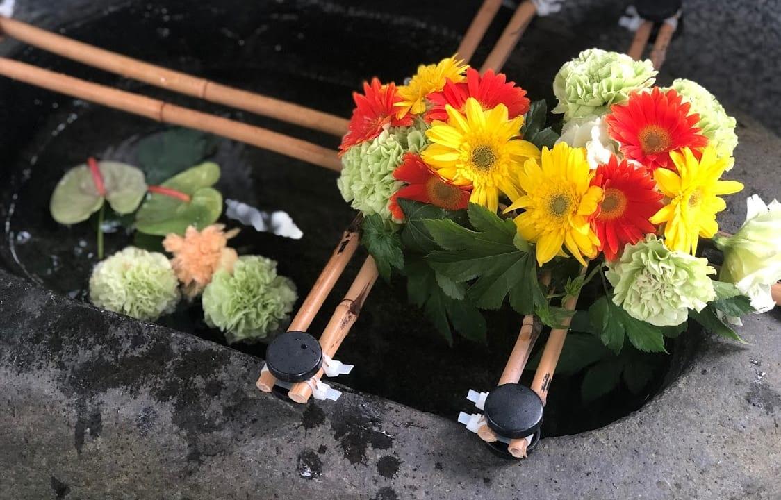 花手水 手稲神社