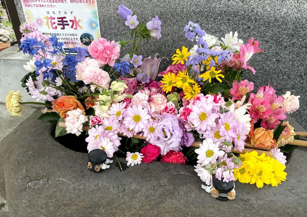 花手水 札幌 手稲神社